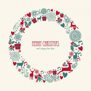 Christmas-Elements-Wreath-Vector