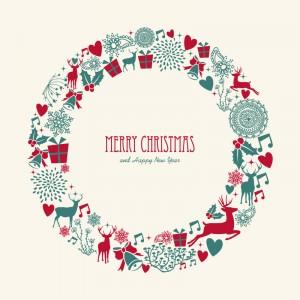 Christmas-Elements-Wreath-Vector